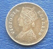 .917 Silver 1901 India British 2 Annas KM#488 Queen Victoria Nice Circulated BB9