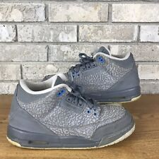factory price 72b15 2e6f6 Kids Nike Air Jordan Retro 3 III GS COOL GREY Cement Blue 7Y Wmns 8.5  441140 015