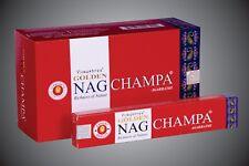 Golden NAG CHAMPA Räucherstäbchen 15g Stick Box X 12 Packungen = 180 g Big Box