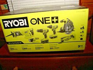 RYOBI 18-Volt ONE+ Lithium-Ion Cordless 6-Tool Combo Kit  P1819 1 Day Ship