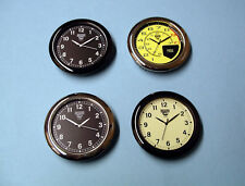 4 x 55mm bezel Premium watch inserts with car clock inspired dials