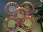 5 Val St Lambert Blarney Ruby Cranberry Cut to Clear French Crystal Salad Plates