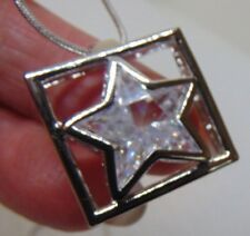 SUSAN SOMERS SILVERTONE STAR PENDANT AND NECKLACE