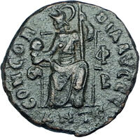 VALENTINIAN II 378AD Antioch Authentic Ancient Roman Coin Rome as Roma i65907