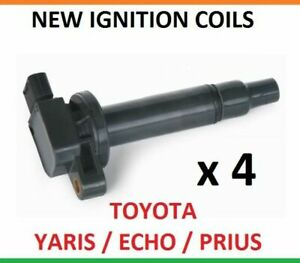 4 x IGNITION COILS for Toyota ECHO YARIS PRIUS 1.3 1.4 1.5 COIL SET packs