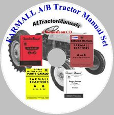 Farmall A AV  / B Tractor Manuals on  CD operator/service/parts/Battery Ignition