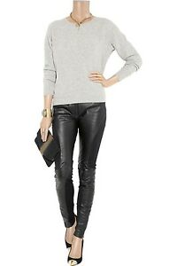 ALICE BY TEMPERLEY Agnes Leather And Jersey Skinny Pants Size US2