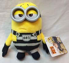 "Despicable Me 3 JAIL TIME TOM MINION 5"" Plush STUFFED ANIMAL Toy NEW w/ TAG"