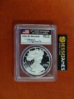 2011 W PROOF SILVER EAGLE PCGS PR69 DCAM FLAG MERCANTI FROM 25TH ANNIVERSARY SET