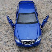 Mercedes-Benz S600L 1:32 Model Cars Sound&Light Blue Collections Alloy Diecast