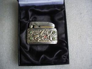 """Consul"" (Gebrüder Köllisch) altes (Silber Mantel)Benzin Feuerzeug-1952-"