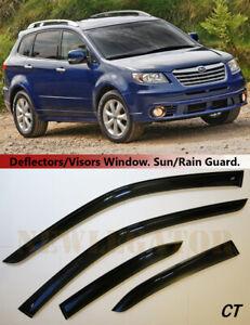 For  Subaru Tribeca 2004-2014, Windows Visors Deflector Sun Rain Guard Vent
