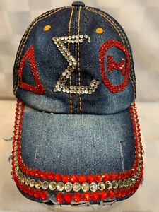AEO Jeweled Distress Blue Denim Adjustable Adult Baseball Ball Cap Hat