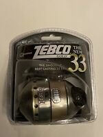 ZEBCO 33 GOLD 3.6:1 GEAR RATIO SPINCAST REEL CLAM PACK 21-11055 NIP