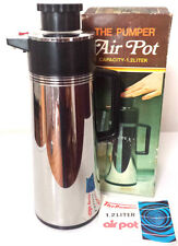 Vintage Retro THE PUMPER AIR POT Thermos Flask Stainless Steel  1.2 L car Picnic