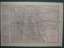 1926 mapa ~ Newark plan Ciudad Nueva Jersey estación ferroviaria cementerio branchbrrok Park