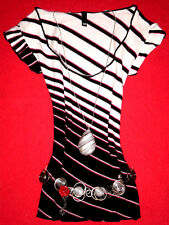 H&M SHIRT RoCKaBiLLY ROMANTIK BoHo BLOGGER STREIFEN  M 38 40  NEUW.!! TOP!!