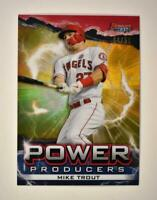 2020 Bowman's Best Power Producers Refractor Gold Mike Trout /50 - Angels