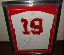 Paul Gascoigne Gazza England Legend signed Italia 90 framed shirt AFTAL PROOF