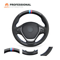 DIY Leather Suede Car Steering Wheel Cover Wrap for BMW F22 F23 3 Series F30 F32