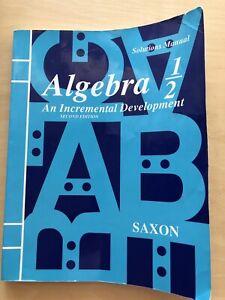 Saxon Algebra 1/2 Solutions Manual Second Edition homeschooling Teacher key #3