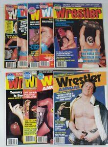 Vintage Wrestling Magazine Lot of 9 The Wrestler Inside Sports Review 1983-1985