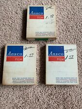 Lot Of 3 Vintage Ansco Portrait Film.24 Sheets 3 1/4x4 1/2. 2 Sealed, 1 Opened.