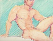 Male Nude Study-Original Fine Art Oil Painting- Signed by Artist