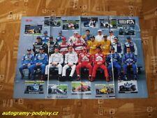 1998 Drivers/Piloten - poster cca 8xA4 Format