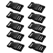 10 Pcs Plastic Black Strap Webbing 25mm Side Release Buckle Sewing1 inch STAR