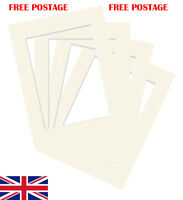 """Ivory Photo/ Picture Mount 10 Pack 4x4""""-32x44"""" 10x10cm-50x100cm fit all Sizes"""