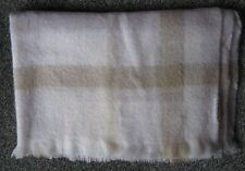 Mohair & Wool Beige / White Throw / Blanket Hinterveld New