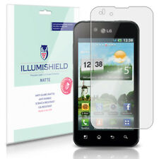 iLLumiShield Matte Screen Protector w Anti-Glare/Print 3x for LG Optimus Black