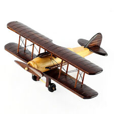 Interior Design Decoration Antique Wood Model Miniature Airplane Toy Props T3590