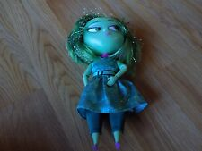 """Disney Store Inside Out Green Disgust Talking Doll 9"""" Lights Sounds EUC"""