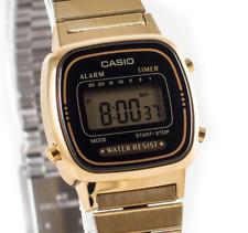 CASIO VINTAGE LA670WGA-1 WOMEN'S METAL BAND  GOLD-TONE DIGITAL WATCH NEW IN BOX