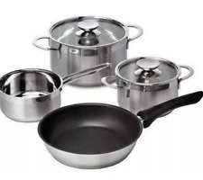 SIEMENS STAINLESS STEEL INDUCTION HOB 4pc POT & PAN SET (HZ390042)