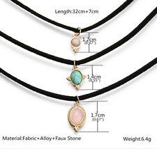 3PCS Vintage Gothic Colors All-match Turquoise Chokers Cute Pendants Necklace