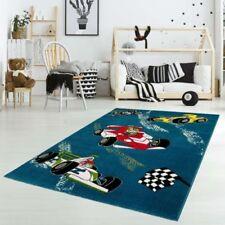 Tapis bleu avec des motifs Pour enfant pour la maison salle de jeux pour enfants