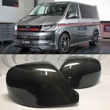 VW T6 Real Carbon Fibre Sportline Style Wing Mirror Covers Replacement Style