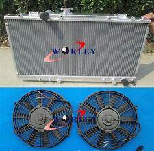 Aluminum Radiator + fans for TOYOTA CELICA GT4 ST185 3SGTE 1990-1994 1991 92 93