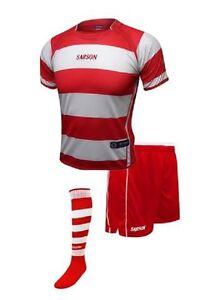 Soccer Red/White Rio San Paolo Sarson Uniform Kit Jersey Shorts and Socks