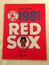 1981 Red Sox vs. New York Yankees game Program-Sept 9, 1981