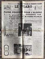 N136 La Une Du Journal Le Figaro 15 Mai 1958