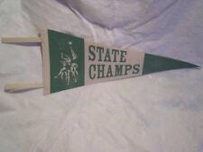 1948 STATE BASKETBALL CHAMPS FELT PENNANT,Pickneyville Illinois High School,48'