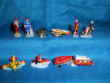FRENCH FIREFIGHTING Set of 10 Porcelain FEVES Figures FIREFIGHTERS Fire Fighters