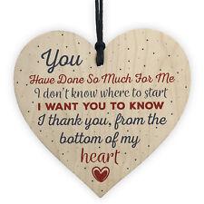Handmade Wooden Heart Gift for Teacher Mentor Friend Childminder Thank You Gifts