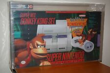 Super Nintendo Console SNES Donkey Kong Country Set - NEW UNUSED NM VGA Q80 RARE