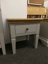 Eton Soft Grey & Oak Lamp Table / Side / End Table / Light Unit