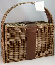 POTTERY BARN ~ OUTDOOR / PARTY CHIP AND DIP PICNIC BASKET~ SOLD OUT AT PB
